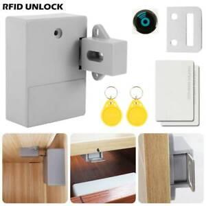 Electronic Smart Rfid Door Cabinet Lock Auto Hidden Card Reader Security Keyless