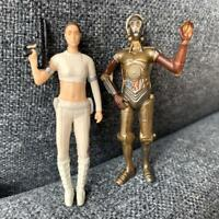 2 STAR WARS Clone Wars 3.75'' C3PO DROIDS & LEIA Action Figure toy Stormtroops