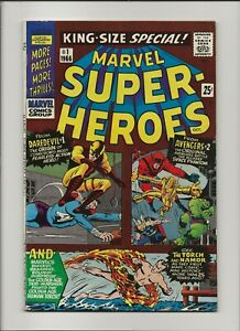 Marvel Super-Heroes 1 VF 8.0 King-Size Special Daredevil 1 Avengers 2 1966