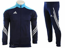 Adidas Full Zip Mens Tracksuit Jogging Top Bottoms 3 Stripe Size S - XXL