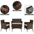 thumbnail 1 - 4 Pieces Outdoor Patio Lawn Sofa Set Rattan Wicker Furniture Table