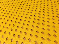 E-1/  Amber Yellow Rectangle Perforated sheep skin hide leather
