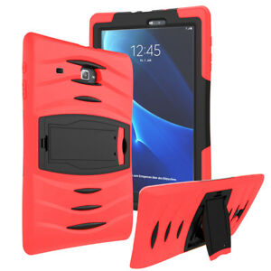 Shockproof Heavy Duty Armor Case Cover For Galaxy Tab E Lite 7.0 T116 (Red)