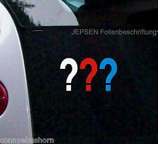 tre punto interrogativo MINI ADESIVO PER AUTO IN 7x4cm - Adesivi per auto S76