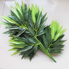 2Pcs Green Artifical Bamboo Leaves Plant Art Home Garden Yard Floral Plant Decor