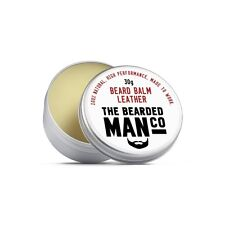 Beard Balm 30g LEATHER Conditioner Male Grooming Beauty Styling Moisturiser