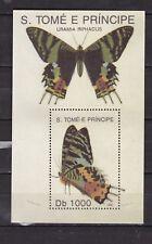 Sao Tome and Principe : Butterflies ( 1992 ) Minisheet  MNH