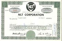 NLT Corporation > 1969 Nashville, TN old stock certificate share