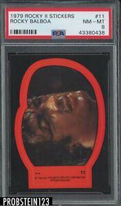 1979 Rocky II Stickers #11 Rocky Balboa PSA 8 NM-MT