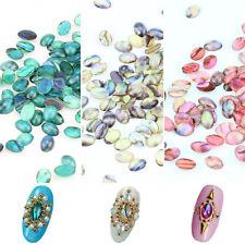 10PCS Nail Art Acrylic Colorful Shell Pattern DIY Decoration Glitter Jewelry