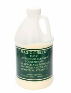 Magic Green Ultrasonic Cleaner 2 Lbs Jewelry Metal Cleaning Concentrate Solution