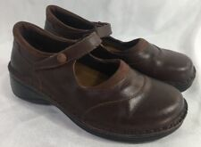Naot Womens Brown Suede Leather MaryJanes Flat Shoes Size 37 / 6.5 Israel Made