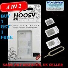 NOOSY SIM ADAPTOR 4 IN 1 SIM CARD NANO MICRO STANDARD SIZES + EJECT TOOL NEW UK