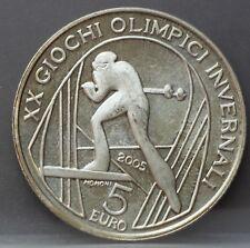Italie Italy  5 euro 2005  2006 Olympic Winter Games Torino Cross country nice!