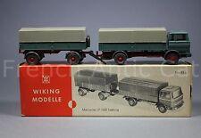 U526 Wiking modelle Ho Mercedes LP 1620 Lastzug 43 g 1967 camion truck trailer