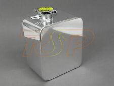 Universel 2 litres poli alliage d'aluminium en-tête d'expansion réservoir d'eau avec cap