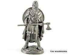 Anglo-Saxon 6 Century Tin toy soldier. 54mm miniature figurine. metal sculpture
