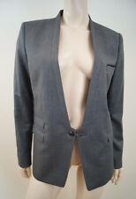THE KOOPLES gris 100% laine Chaîne Fixé doublé formel Blazer Jacket Sz42; UK14