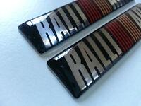 2 Pics small EMBLEM Car Badge SPORT RALLIART EVO RALLY Lancer evolution JDM