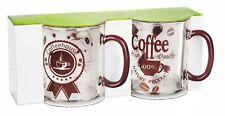 2 Latte Macchiato Gafas 300ml coffee-aufdruck tazas de café milchkaffeegläser