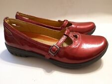 Ladies Patent Leather Red / Pink Flat Shoe's by Clarks, UK 6 / EU 39, £65, NEW.