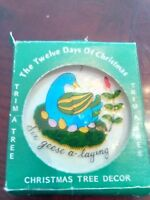 Twelve Days of Christmas six geese a laying Trm a  Tree  ORNAMENT Vintage