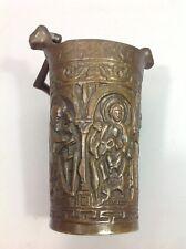 Bénitier Seau eau bénite Bronze XIXe Modèle trésor Duomo Milan XIe 11° siècle
