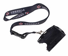RESIDENT EVIL UMBRELLA LANYARD NECK STRAP TWO SIDED ID HOLDER CARD HOLDER -36221