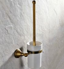 Antique Brass Toilet Brush Holder Set Bathroom Cleaning Accessories wba149