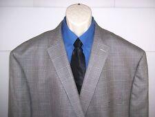 Ralph by Ralph Lauren Mens Blazer Houndstooth Size 58 Regular Blue Silver Grey