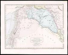 1864 - Original Antique Map of ANCIENT SYRIA MESOPOTAMIA ASSYRIA (14)