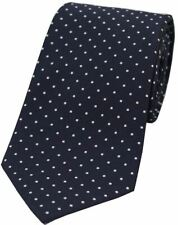 David Van Hagen Mens Pin Dot Polyester Tie - Blue