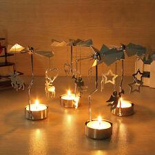 Noël populaire ROTATIF Carrousel bougeoir bougie chauffe plat centre décor