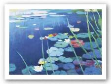 Lily Pond Tadashi Asoma Asian Art Print 20x15