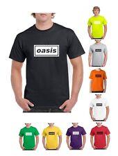 OASIS Logo  - Choose Colour  Band Music T-Shirt (S-2XL)