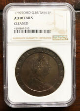 U.K -Great Britain Soho Cartwheel 2 Pence 1797-KM # 619, NGC - AU