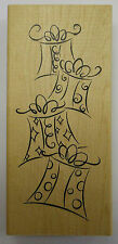 Stack of PARCELS Gifts Rubber Stamp-Wood Mounted