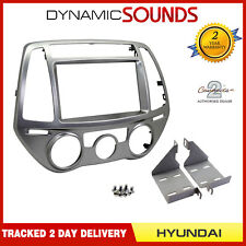 CT23HY33 Car Stereo Double Din Silver Fascia Panel Adaptor For Hyundai i20 2012>