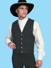 WAHMAKER by SCULLY OLD WEST COWBOY CLOTHING WOOL VEST - USA MADE