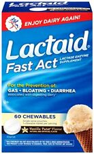 Lactaid Fast Act Lactase Enzyme Supplement Vanilla 60 Caplets