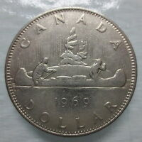 1969 CANADA VOYAGEUR NICKEL DOLLAR COIN - CC12