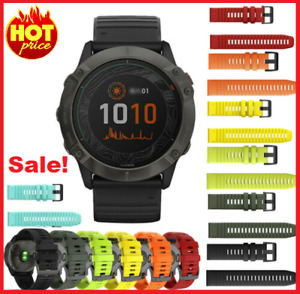 For Garmin Fenix 6X/6 Pro 3HR/5/5X Quick Fit Silicone Watch Band Strap 26MM 22MM