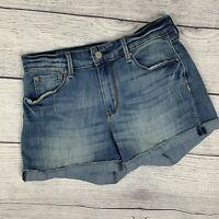 Levi Strauss Hight Rise Jean Shorts sz 6 28 Women's Med Wash Cuffed