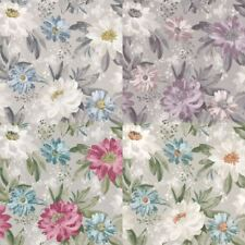 Arthouse Painted Dahlia Flower Pattern English Garden Hand Painted Wallpaper