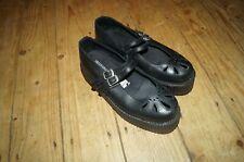 Underground Brothel Creepers, Double Sole, Black Mary Jane Shoes uk 6 RRP £140
