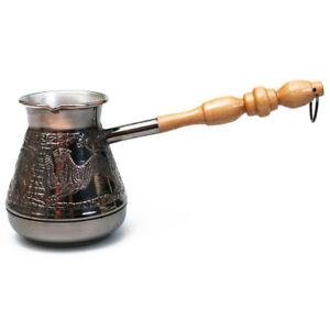 ARMENIAN TURKISH COFFEE POT MAKER CEZVE IBRIK Jezve Turka 14 oz 400 ml