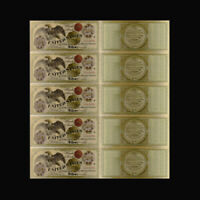 5pcs 1863 Usd 100 Dollar Gold Banknote Note Plated Us Banknotes Bill Money