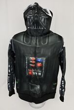 Darth Vader Star Wars Costume Halloween Mens Hoodie Zip Sweater Small EUC