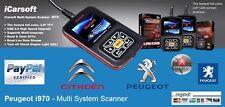 TOP OBD2 iCarsoft i970 Peugeot Fault Code Scanner Reset Diagnostic Airbag