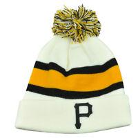 MLB '47 Brand Pittsburgh Pirates Breakaway Cuffed Beanie Pom Skully Knit Hat